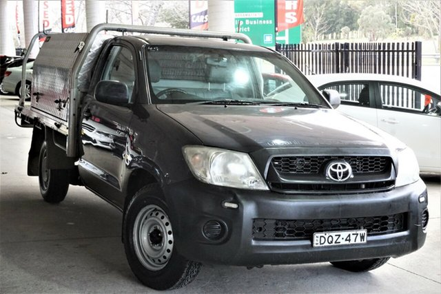 Used Toyota Hilux TGN16R MY10 Workmate 4x2 Phillip, 2010 Toyota Hilux TGN16R MY10 Workmate 4x2 Grey 5 Speed Manual Cab Chassis
