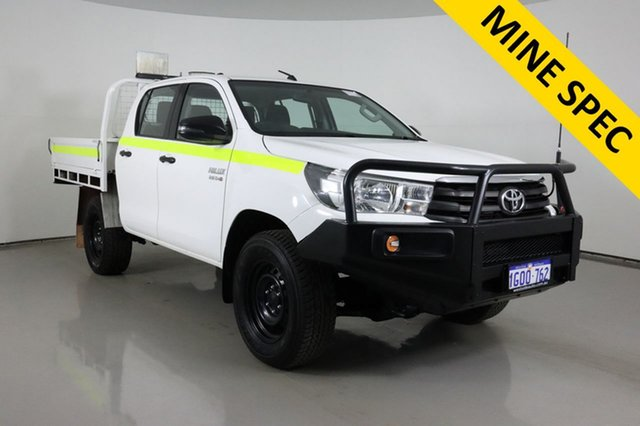 Used Toyota Hilux GUN126R MY17 SR (4x4) Bentley, 2018 Toyota Hilux GUN126R MY17 SR (4x4) White 6 Speed Automatic Dual Cab Chassis