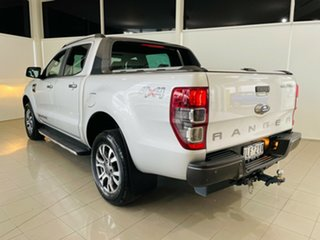 2017 Ford Ranger PX MkII Wildtrak Double Cab Silver, Chrome 6 Speed Sports Automatic Utility.