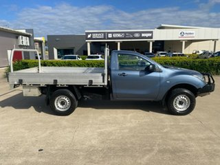 2017 Mazda BT-50 UR0YG1 XT Blue/110417 6 Speed Sports Automatic Cab Chassis.