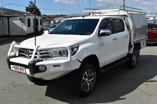 2016 Toyota Hilux GUN126R SR5 (4x4) White 6 Speed Manual Dual Cab Utility