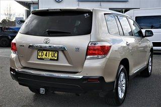 2010 Toyota Kluger GSU40R KX-R 2WD Gold 5 Speed Sports Automatic Wagon