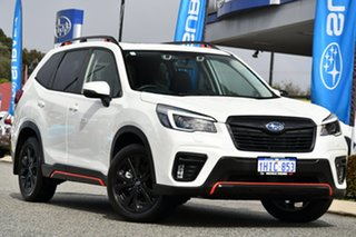 2021 Subaru Forester S5 MY21 2.5i Sport CVT AWD White 7 Speed Constant Variable Wagon.