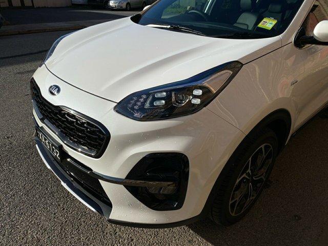Demo Kia Sportage QL MY21 GT-Line AWD Cheltenham, 2021 Kia Sportage QL MY21 GT-Line AWD Snow White Pearl 6 Speed Sports Automatic Wagon