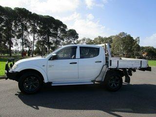 2011 Mitsubishi Triton MN MY11 GLX (4x4) White 5 Speed Manual 4x4 Double Cab Utility