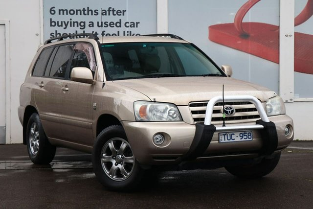 Pre-Owned Toyota Kluger MCU28R MY06 CVX AWD Ferntree Gully, 2005 Toyota Kluger MCU28R MY06 CVX AWD Vintage Gold 5 Speed Automatic Wagon