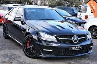 2013 Mercedes-Benz C-Class W204 MY13 C63 AMG SPEEDSHIFT MCT Edition 507 Black 7 Speed.