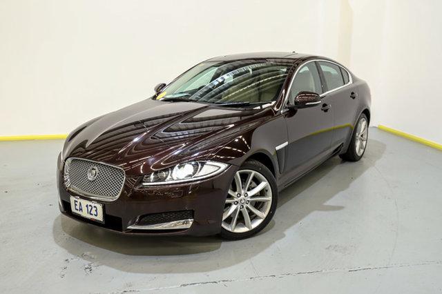 Used Jaguar XF X250 MY13 Premium Luxury Canning Vale, 2013 Jaguar XF X250 MY13 Premium Luxury Maroon 8 Speed Sports Automatic Sedan