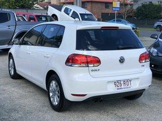 2011 Volkswagen Golf VI MY11 90TSI Trendline White 6 Speed Manual Hatchback.