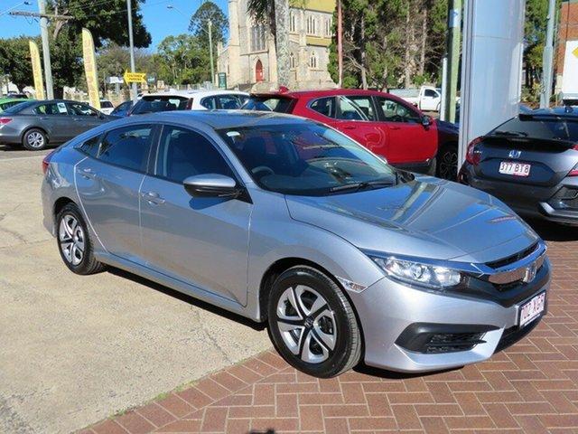 Used Honda Civic MY16 VTi Toowoomba, 2017 Honda Civic MY16 VTi Silver Continuous Variable Sedan