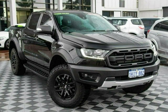 Used Ford Ranger PX MkIII 2019.75MY Raptor Attadale, 2019 Ford Ranger PX MkIII 2019.75MY Raptor Black 10 Speed Sports Automatic Double Cab Pick Up