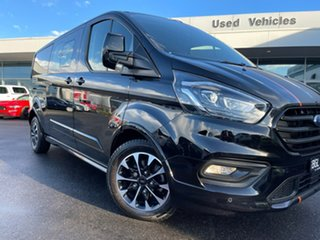 2019 Ford Transit Custom VN 2019.75MY 320L (Low Roof) Sport Black 6 Speed Automatic Double Cab Van.