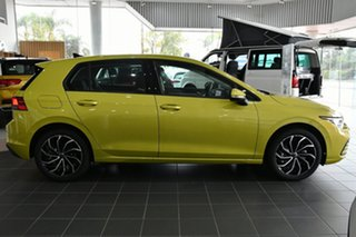2021 Volkswagen Golf 8 MY21 110TSI Life Pomelo Yellow 8 Speed Sports Automatic Hatchback