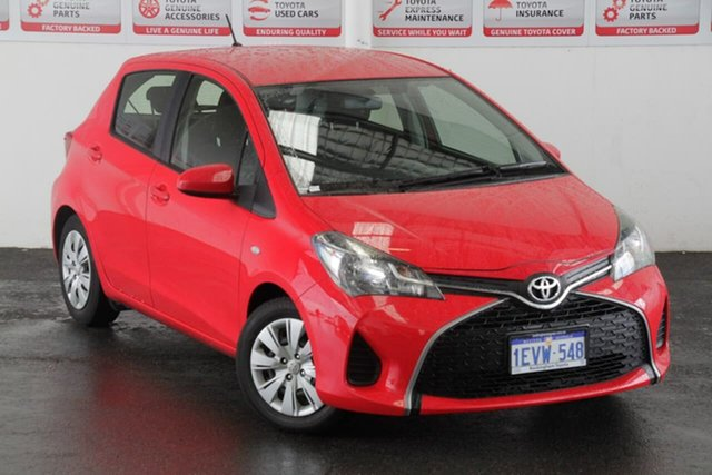 Pre-Owned Toyota Yaris NCP130R MY15 Ascent Rockingham, 2015 Toyota Yaris NCP130R MY15 Ascent Cherry 4 Speed Automatic Hatchback