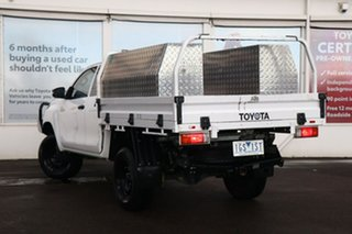2015 Toyota Hilux GUN125R Workmate Extra Cab Glacier White 6 Speed Manual Cab Chassis.