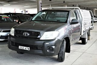 2010 Toyota Hilux TGN16R MY10 Workmate 4x2 Grey 5 Speed Manual Cab Chassis