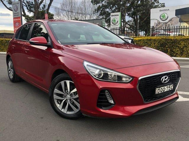 Used Hyundai i30 PD MY18 Active Botany, 2017 Hyundai i30 PD MY18 Active Red 6 Speed Sports Automatic Hatchback