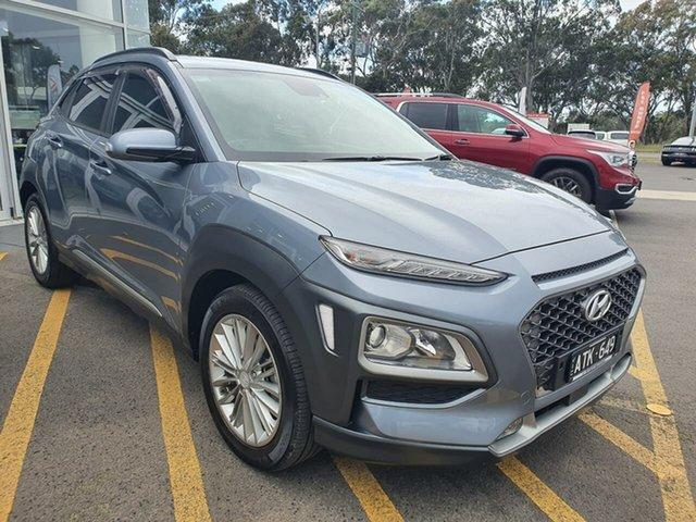 Used Hyundai Kona OS MY18 Elite 2WD Epsom, 2018 Hyundai Kona OS MY18 Elite 2WD Silver 6 Speed Sports Automatic Wagon