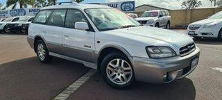 2002 Subaru Outback B3A MY02 AWD White 4 Speed Automatic Wagon.