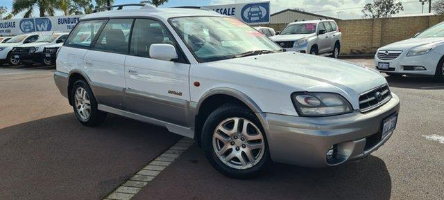 Used Subaru Outback B3A MY02 AWD East Bunbury, 2002 Subaru Outback B3A MY02 AWD White 4 Speed Automatic Wagon