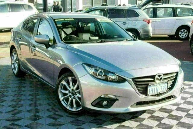 Used Mazda 3 BM5238 SP25 SKYACTIV-Drive Attadale, 2014 Mazda 3 BM5238 SP25 SKYACTIV-Drive Silver 6 Speed Sports Automatic Sedan