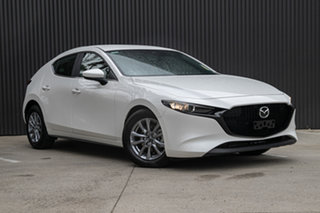 2021 Mazda 3 BP2H7A G20 SKYACTIV-Drive Pure Snowflake White Pearl 6 Speed Sports Automatic Hatchback.