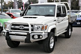 2016 Toyota Landcruiser VDJ79R GXL Double Cab White 5 Speed Manual Cab Chassis