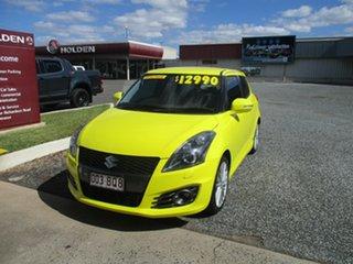 2012 Suzuki Swift FZ Sport Yellow 6 Speed Manual Hatchback.
