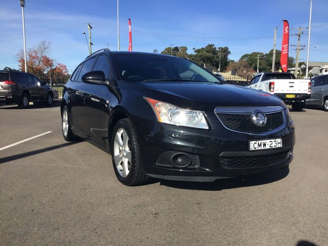 Used Holden Cruze JH Series II MY13 CD Sportwagon Cardiff, 2012 Holden Cruze JH Series II MY13 CD Sportwagon Black 6 Speed Sports Automatic Wagon