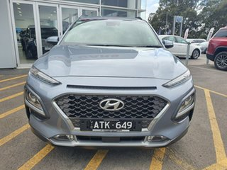 2018 Hyundai Kona OS MY18 Elite 2WD Silver 6 Speed Sports Automatic Wagon.