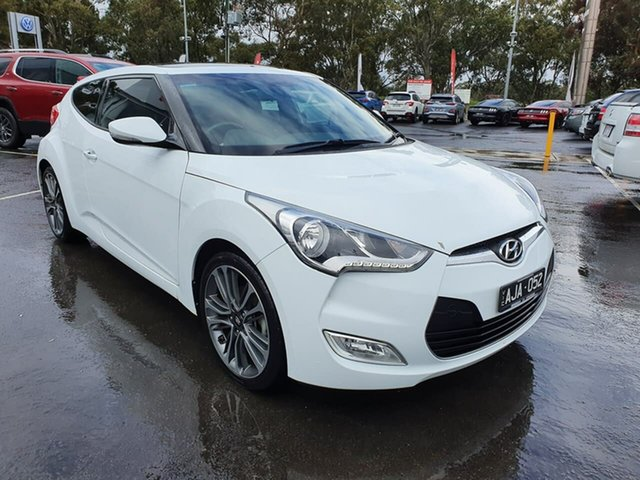 Used Hyundai Veloster FS4 Series II + Coupe D-CT Epsom, 2016 Hyundai Veloster FS4 Series II + Coupe D-CT White 6 Speed Sports Automatic Dual Clutch