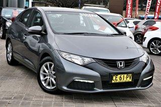 2013 Honda Civic 9th Gen MY13 VTi-S Grey 6 Speed Manual Hatchback.