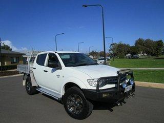 2011 Mitsubishi Triton MN MY11 GLX (4x4) White 5 Speed Manual 4x4 Double Cab Utility.