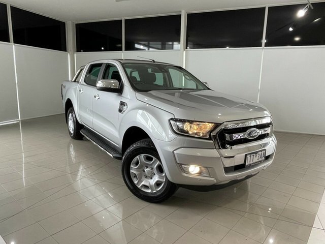 Used Ford Ranger PX MkII 2018.00MY XLT Double Cab Deer Park, 2018 Ford Ranger PX MkII 2018.00MY XLT Double Cab Silver, Chrome 6 Speed Sports Automatic Utility
