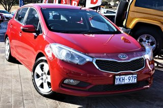2014 Kia Cerato YD MY14 S Red 6 Speed Manual Hatchback.