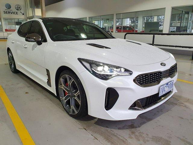 Used Kia Stinger CK MY19 GT Fastback Epsom, 2019 Kia Stinger CK MY19 GT Fastback White 8 Speed Sports Automatic Sedan
