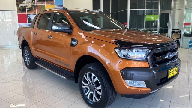 Used Ford Ranger PX MkII Wildtrak Double Cab Cardiff, 2016 Ford Ranger PX MkII Wildtrak Double Cab Orange 6 Speed Sports Automatic Utility