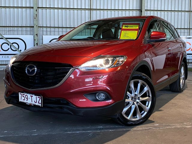 Used Mazda CX-9 TB10A5 Luxury Activematic AWD Rocklea, 2013 Mazda CX-9 TB10A5 Luxury Activematic AWD Red 6 Speed Sports Automatic Wagon