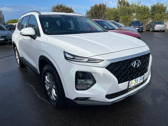 Used Hyundai Santa Fe TM MY19 Active Devonport, 2019 Hyundai Santa Fe TM MY19 Active White Cream 8 Speed Sports Automatic Wagon