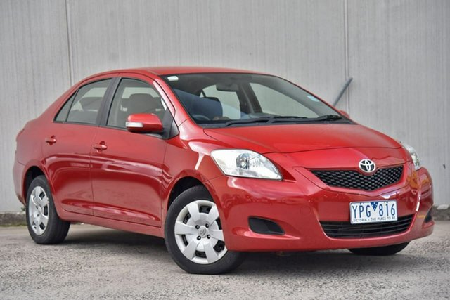 Used Toyota Yaris NCP93R MY11 YRS Oakleigh, 2011 Toyota Yaris NCP93R MY11 YRS Red 4 Speed Automatic Sedan
