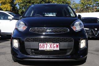 2016 Kia Picanto TA MY17 SI Black 4 Speed Automatic Hatchback.