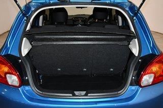 2014 Mitsubishi Mirage LA MY15 LS Blue 1 Speed Constant Variable Hatchback