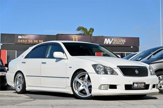 2007 Toyota Crown GRS184 Athlete White 6 Speed Automatic Sedan.