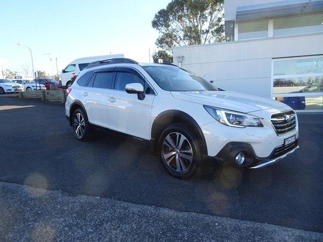 Used Subaru Outback B6A MY18 2.5i CVT AWD Premium Nowra, 2018 Subaru Outback B6A MY18 2.5i CVT AWD Premium Crystal White Pearl 7 Speed Automatic Wagon