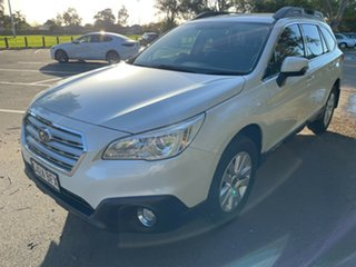 2015 Subaru Outback B6A MY15 2.0D CVT AWD White 7 Speed Constant Variable Wagon.