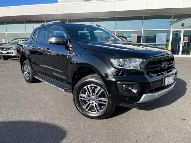 Used Ford Ranger PX MkIII 2020.25MY Wildtrak Essendon Fields, 2020 Ford Ranger PX MkIII 2020.25MY Wildtrak Black 10 Speed Sports Automatic Double Cab Pick Up