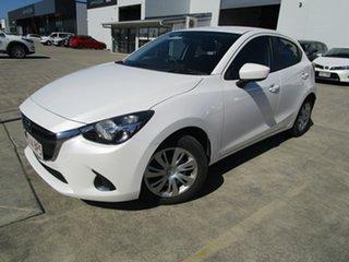 2016 Mazda 2 DJ2HAA Neo SKYACTIV-Drive White 6 Speed Sports Automatic Hatchback.