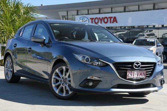 Pre-Owned Mazda 3 BM5438 SP25 SKYACTIV-Drive North Lakes, 2015 Mazda 3 BM5438 SP25 SKYACTIV-Drive Blue 6 Speed Sports Automatic Hatchback