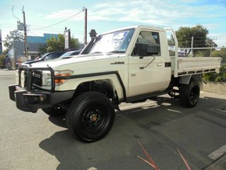 2012 Toyota Landcruiser VDJ79R MY13 Workmate White 5 Speed Manual Cab Chassis