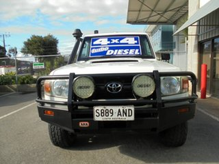 2011 Toyota Landcruiser VDJ79R MY10 Workmate White 5 Speed Manual Cab Chassis.